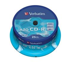 Médium Verbatim CD-R 700MB 80min 52x Crystal 25-cake