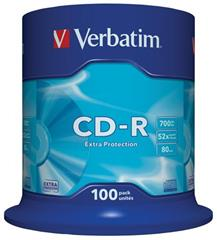 Médium Verbatim CD-R 700MB 80min 52x Extra Protection 100-cake