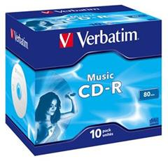 Médium Verbatim CD-R 80 16x MUSIC box 10pck/BAL