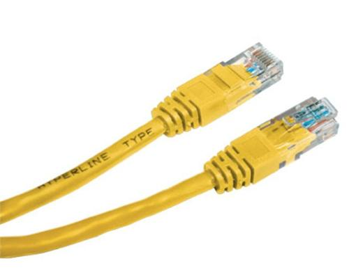 Patch kabel UTP Cat 5e, 2m - žlutý